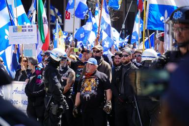 Quebec Far-Right Hold Rally in Support of Government's Law Against Religious Symbols  - Canadian Anti-Hate Network