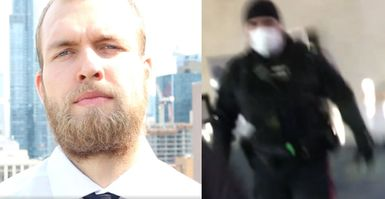 """""""I'm Here For An Interview:"""" Video Shows Police Chasing Canadian Nationalist Party Leader From CBC Building"""