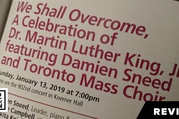 "SCRUTINY | Damien Sneed And Friends Captivate For ""We Shall Overcome"""
