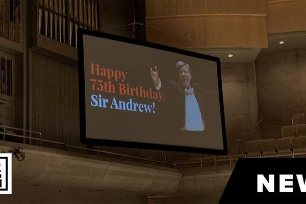 THE SCOOP | Sir Andrew Davis Gets A Surprise Birthday Serenade At The TSO (Video)