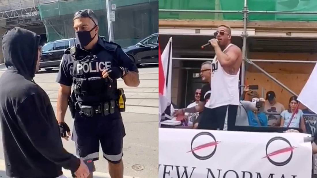 Anti-Masker Bro Fined $1,000 for Speaking at Large Rally During Quarantine