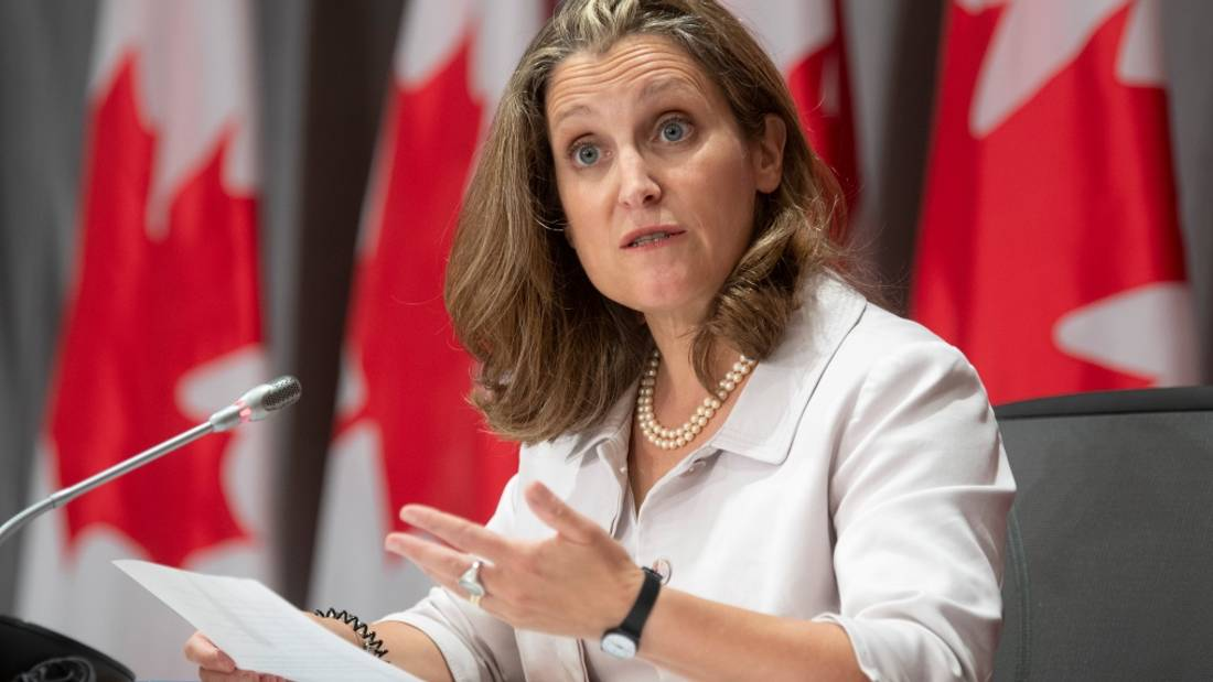 Senators set to question Freeland on bill to provide new rent relief, business aid