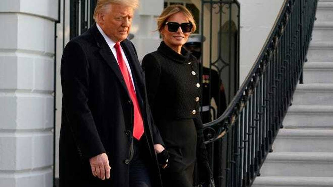 Trump leaves White House a final time as president as Biden set to be sworn in