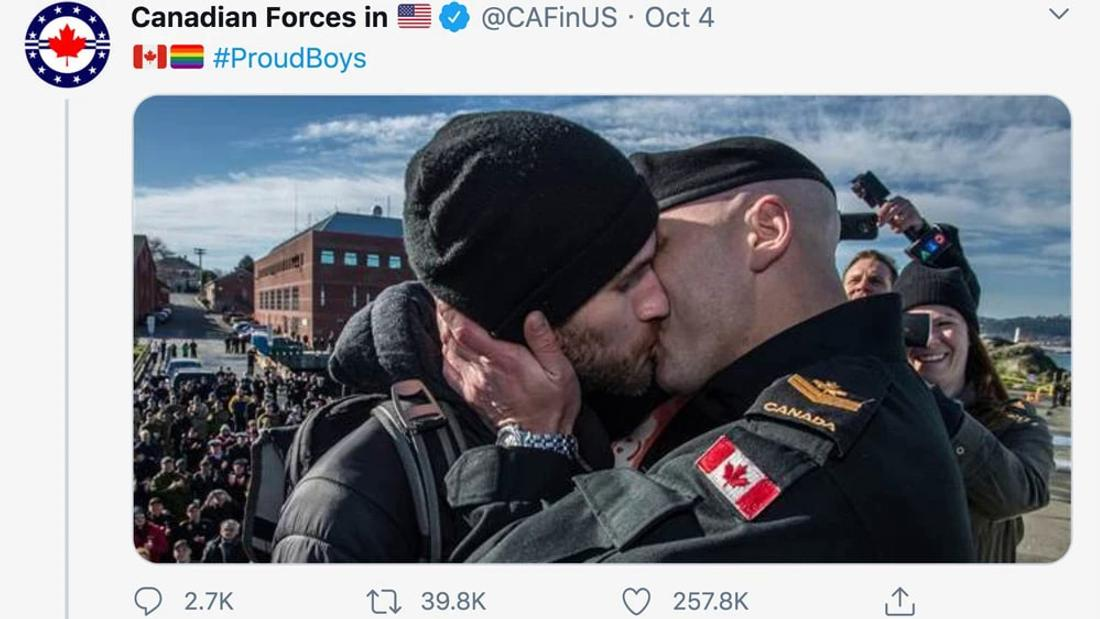 Dealing With Its Own Extremism Scandals, Canadian Military Trolls Proud Boys