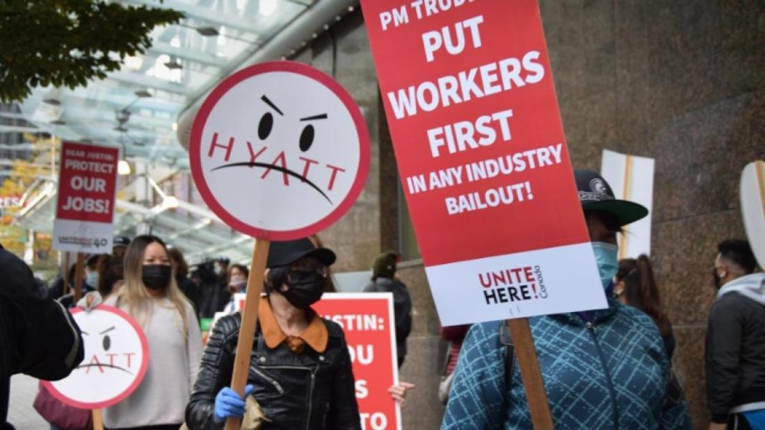 Out-of-work hotel workers say taxpayer money should help them and not big banks