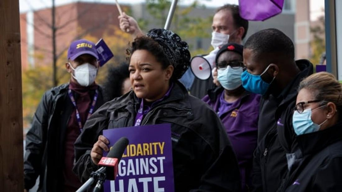 Health-care workers rally against racism after nooses found at hospital construction site
