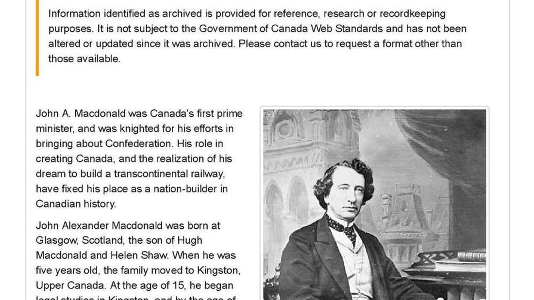 Want to know about John A. Macdonald's racist past? Don't ask the government of Canada