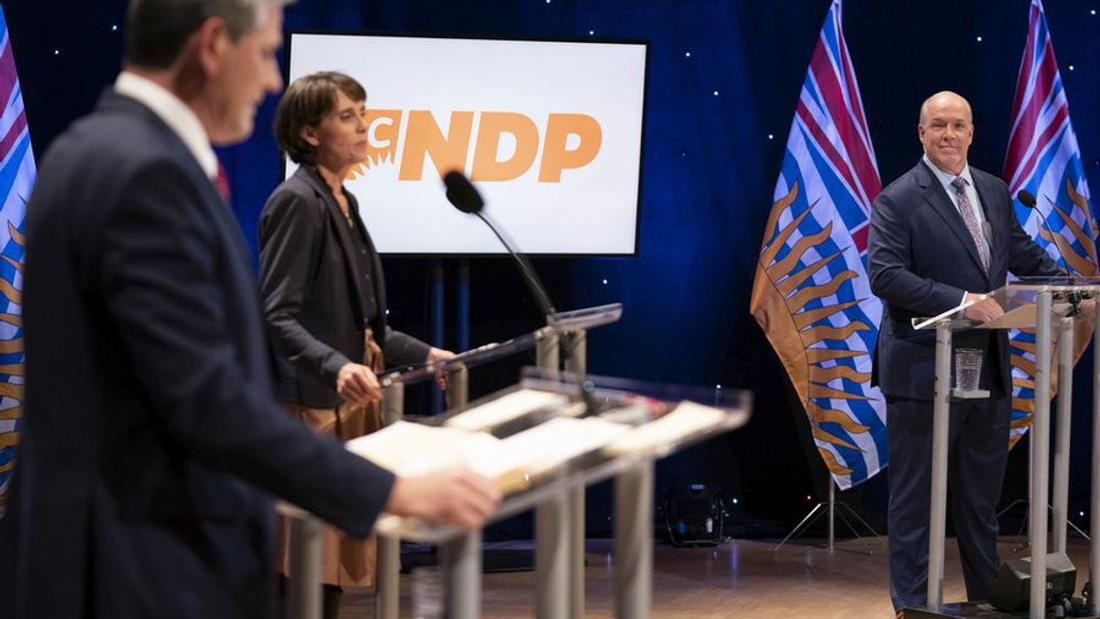 Leaders of B.C.'s three main political parties clash on pandemic response, recovery