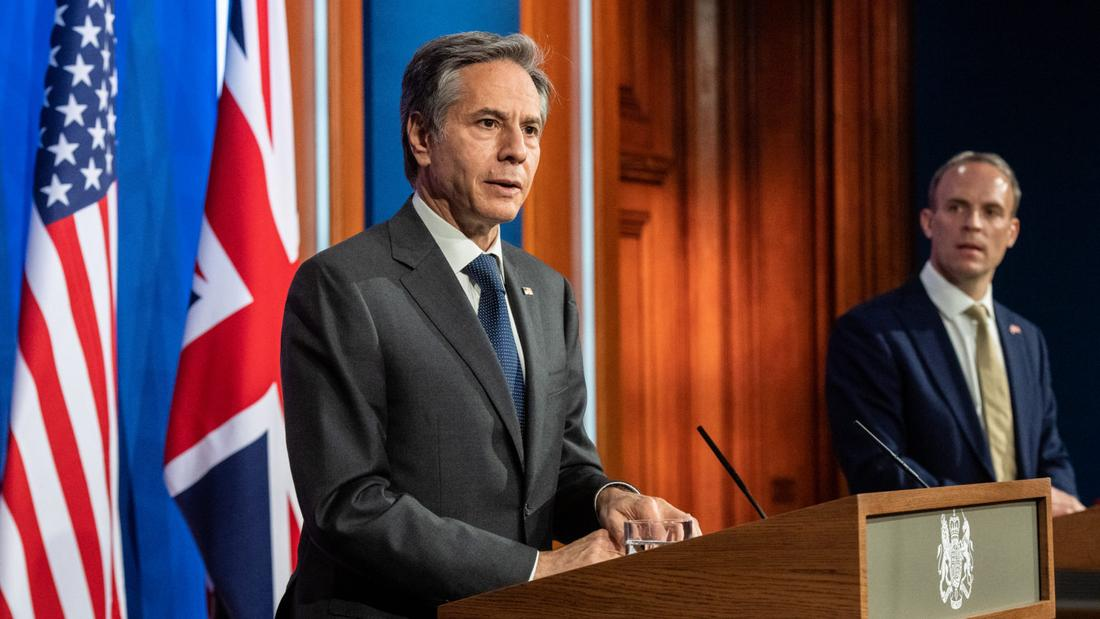 US secretary of state hails UK alliance but stresses need for stability in Northern Ireland