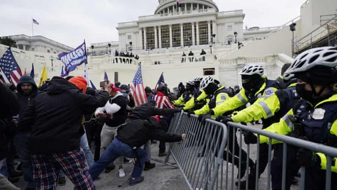 Explosives and weaponry found at US far-right protests, documents reveal