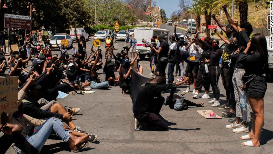 Anti-femicide protesters call for a state of emergency in Namibia