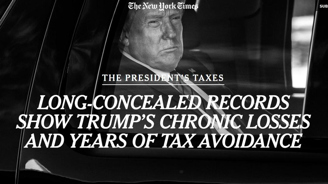Long-concealed Records Show Trump's Chronic Losses and Years of Tax Avoidance