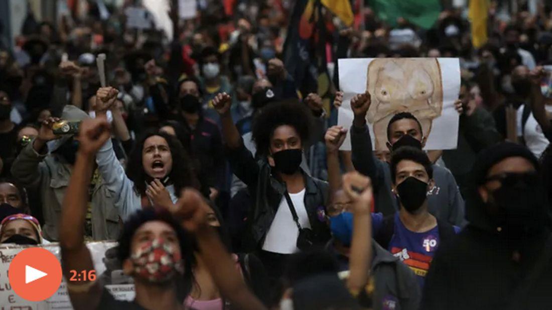 Protests erupt in Brazil after black man dies after being beaten outside supermarket