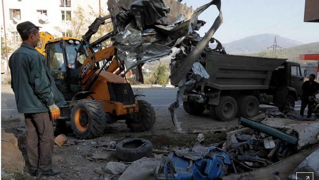 Fighting and recriminations shake Nagorno-Karabakh ceasefire hopes
