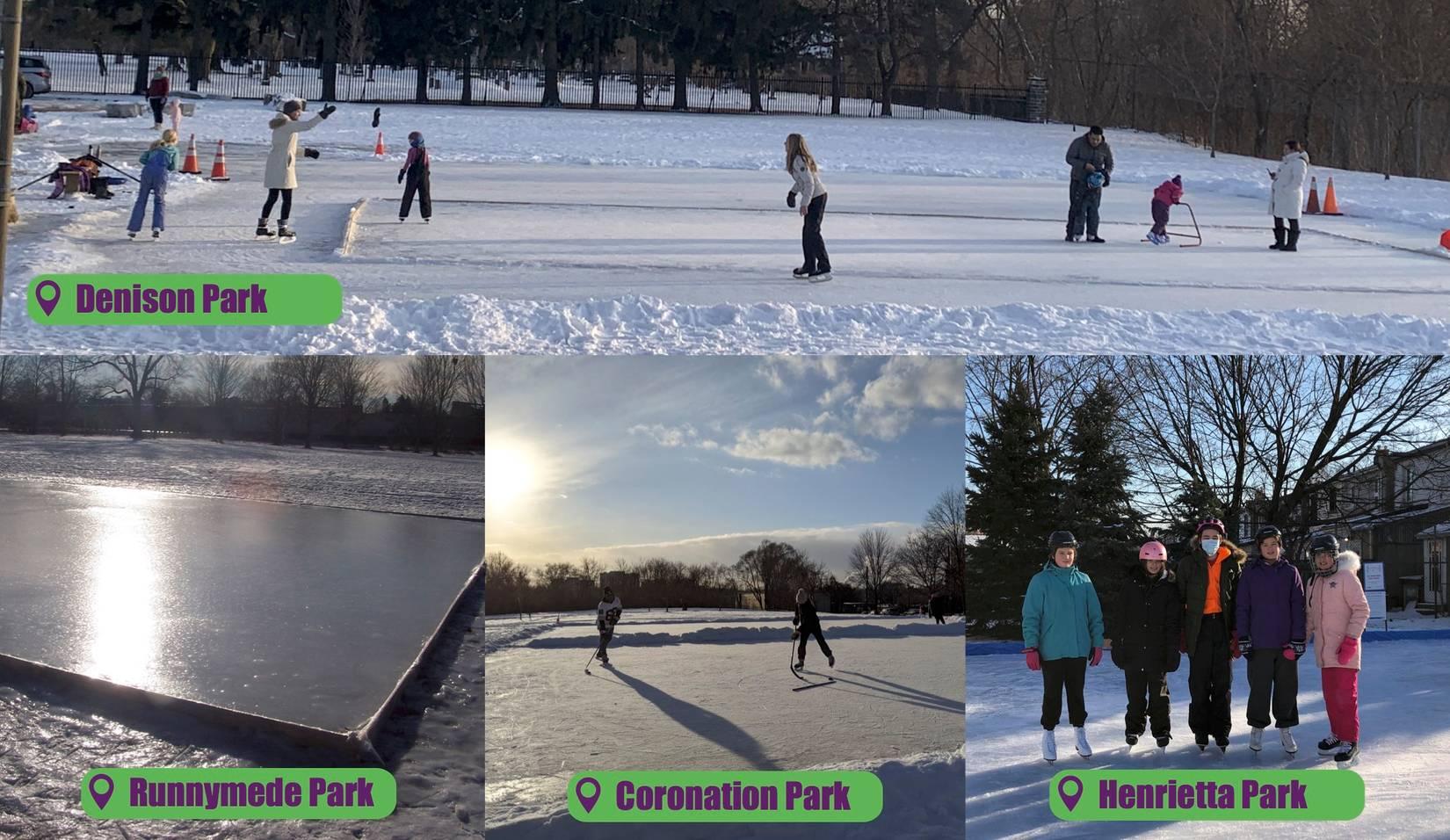 Skating at various parks in York South-Weston