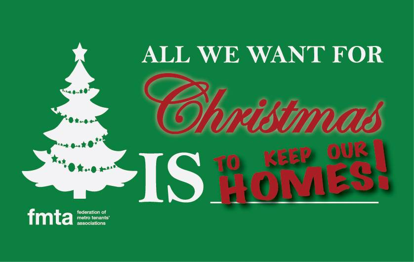 FMTA: All we want for Christmas is to keep our homes