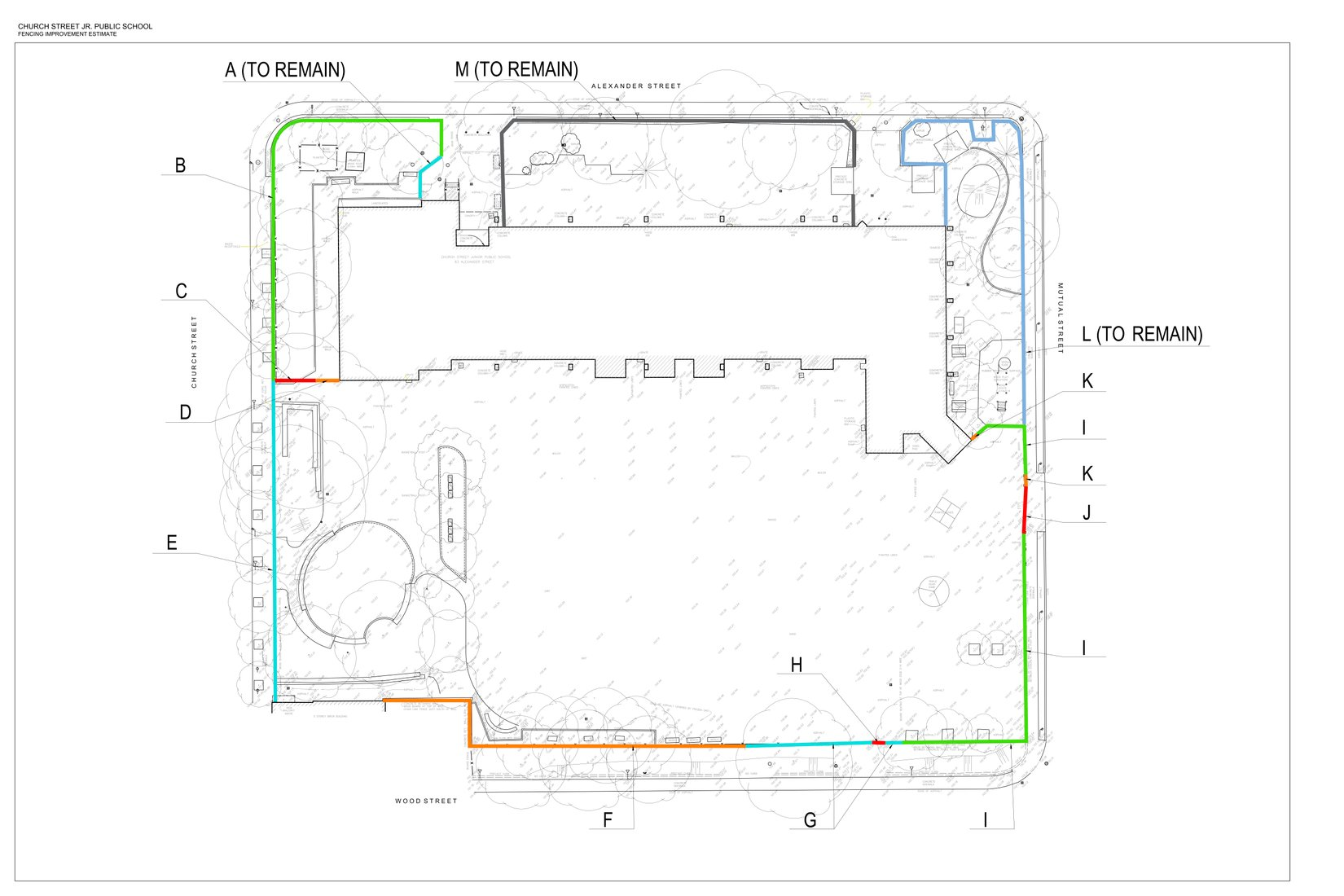 Fence project aerial view site plan