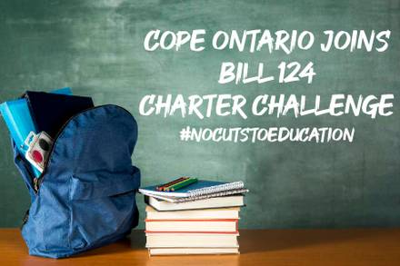 COPE Ontario Joins Bill124 Charter Challenge