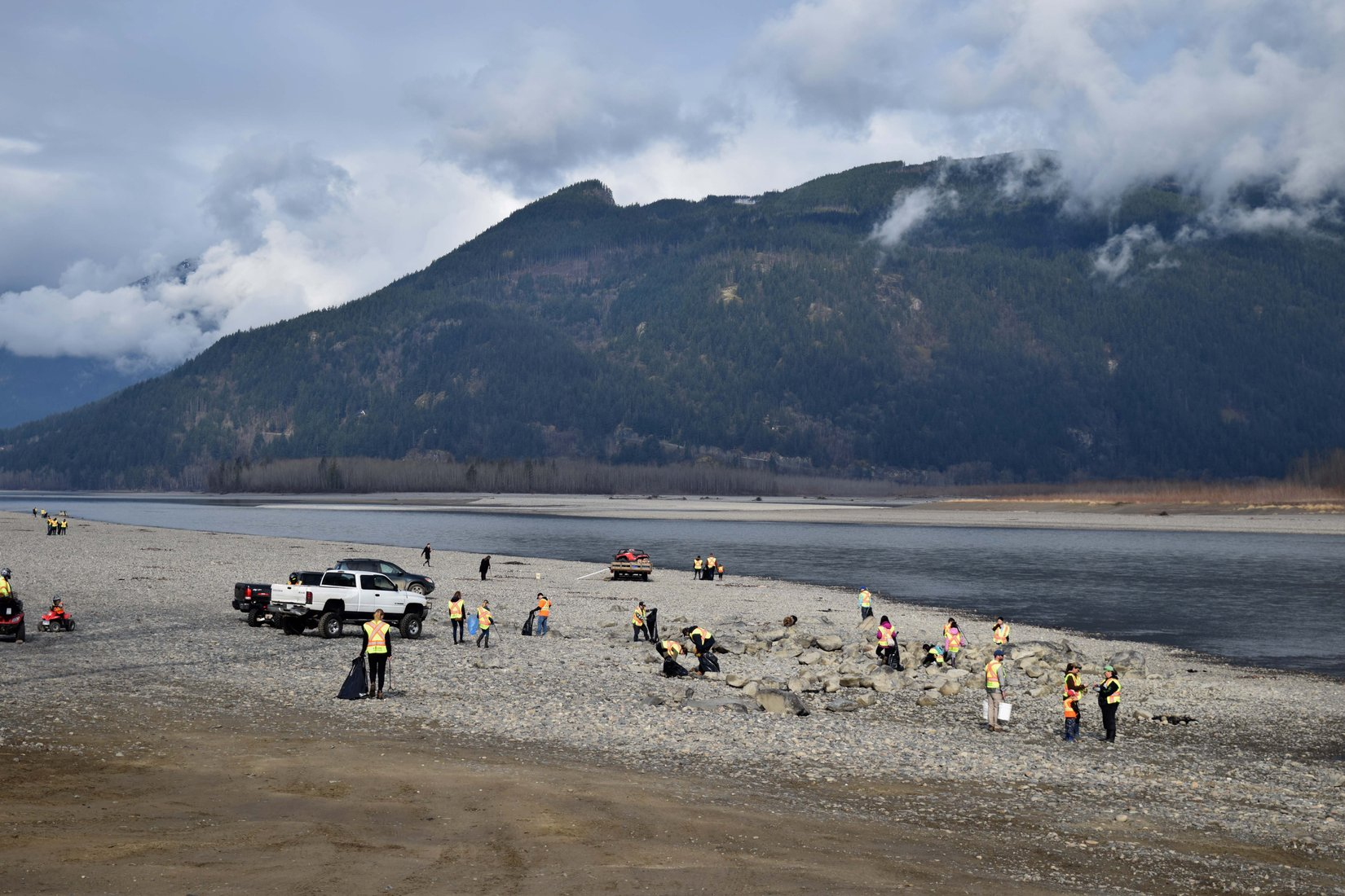 Hundreds of volunteers showed up in 2019 for the Fraser River Cleanup.
