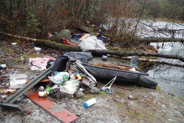 Volunteers pitch in to clean up big mess in Chilliwack River Valley