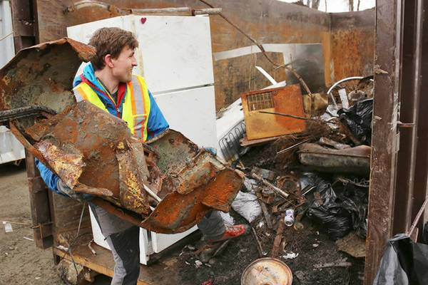 VIDEO: Gill Road cleanup draws 650 volunteers