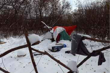 An update from J. Leiper and C. McKenney re: tent city