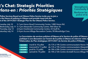 Have Your Say: Help develop the 2019-2021 Strategic Plan for the Ottawa Police Service