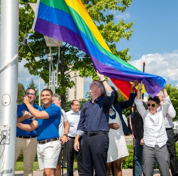 CBC: Watson raises Pride flag as openly gay man