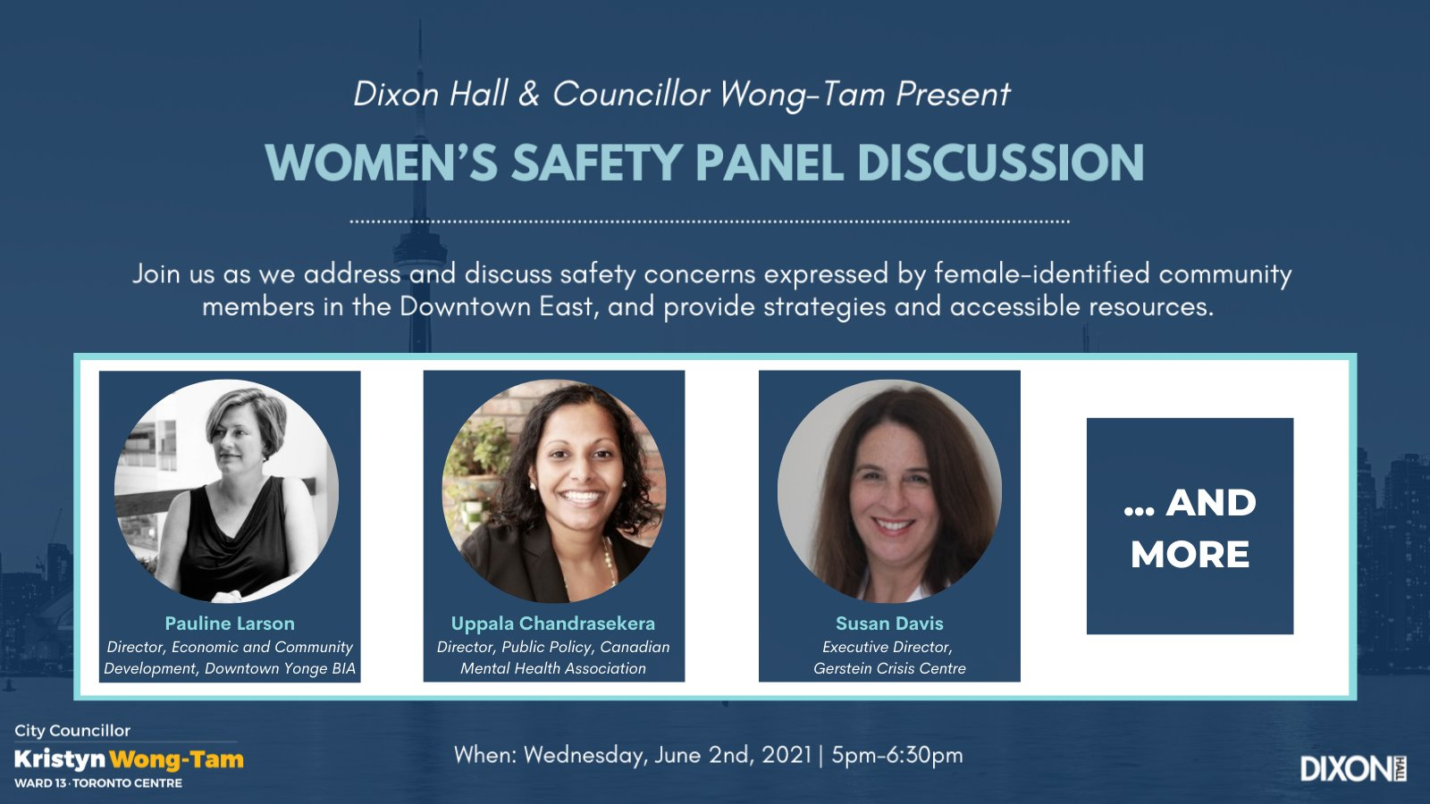 Women's Safety Panel Discussion promotional graphic