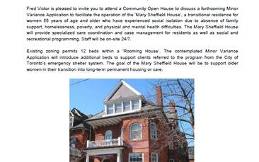 Notice of Community Open House