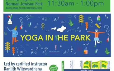 Yoga at Norman Jewison Park