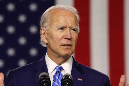 Joe Biden Criticizes Donald Trump in LA County Democratic Party Event