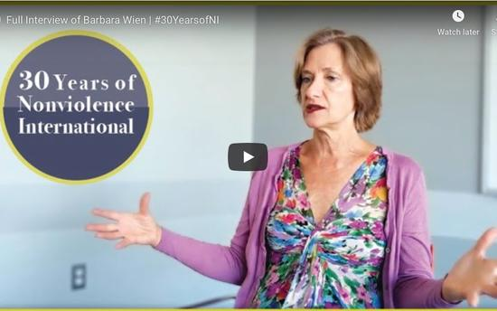 Celebrating 30 Years of Nonviolence International - Barbara Wien