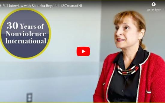 Celebrating 30 Years of Nonviolence International - Shaazka Beyerle