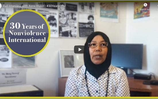 Celebrating 30 Years of Nonviolence International -Asna Husin