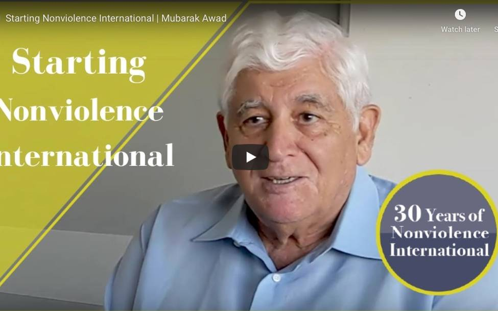 Celebrating 30 Years of Nonviolence International -Founding NVI