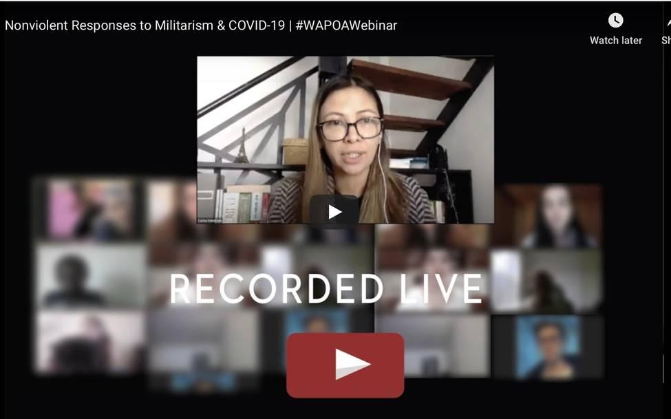 Nonviolent Responses to Militarism & COVID-19 - Webinar