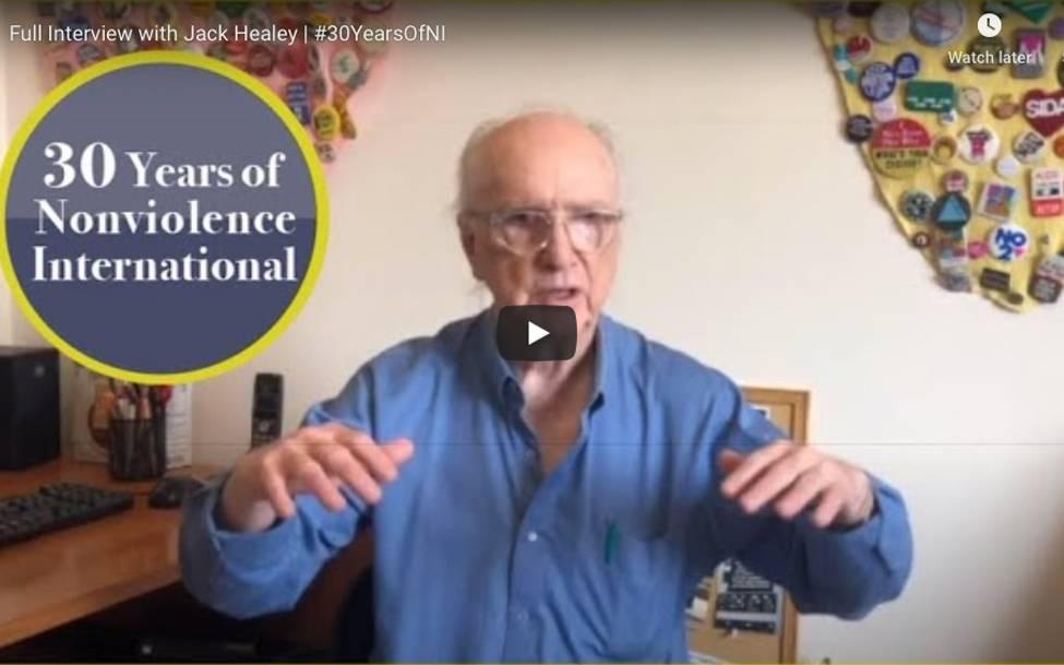 Celebrating 30 Years of Nonviolence International - Jack Healey