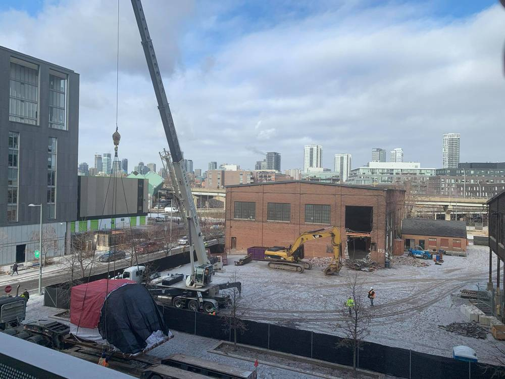 Something very large being removed from the site, January 20