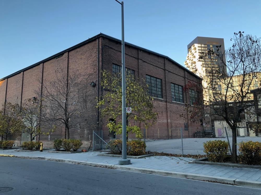 Foundry building viewed from the southwest corner, Rolling Mills Road