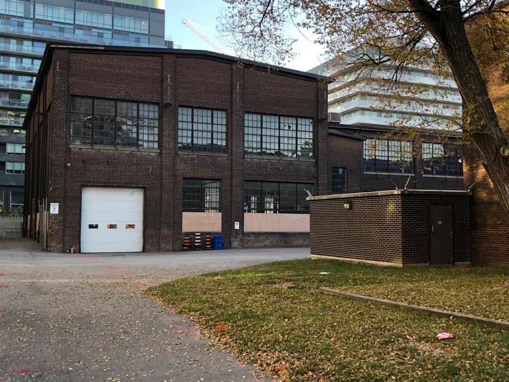 Machine shop, Dominion Wheel & Foundries site, north courtyard