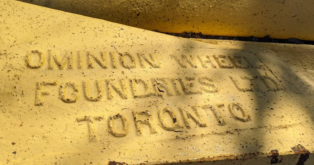 Detail from a railway backstop made at the Foundry Site