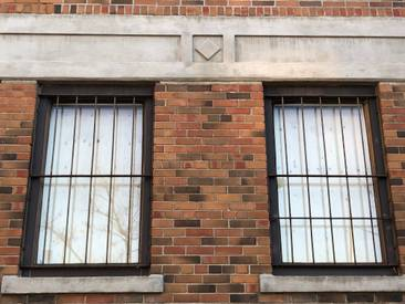 Detail from the windows in the office building (171 Eastern Avenue, built 1930)