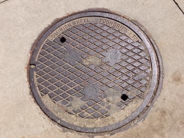 Manhole cover, date unknown