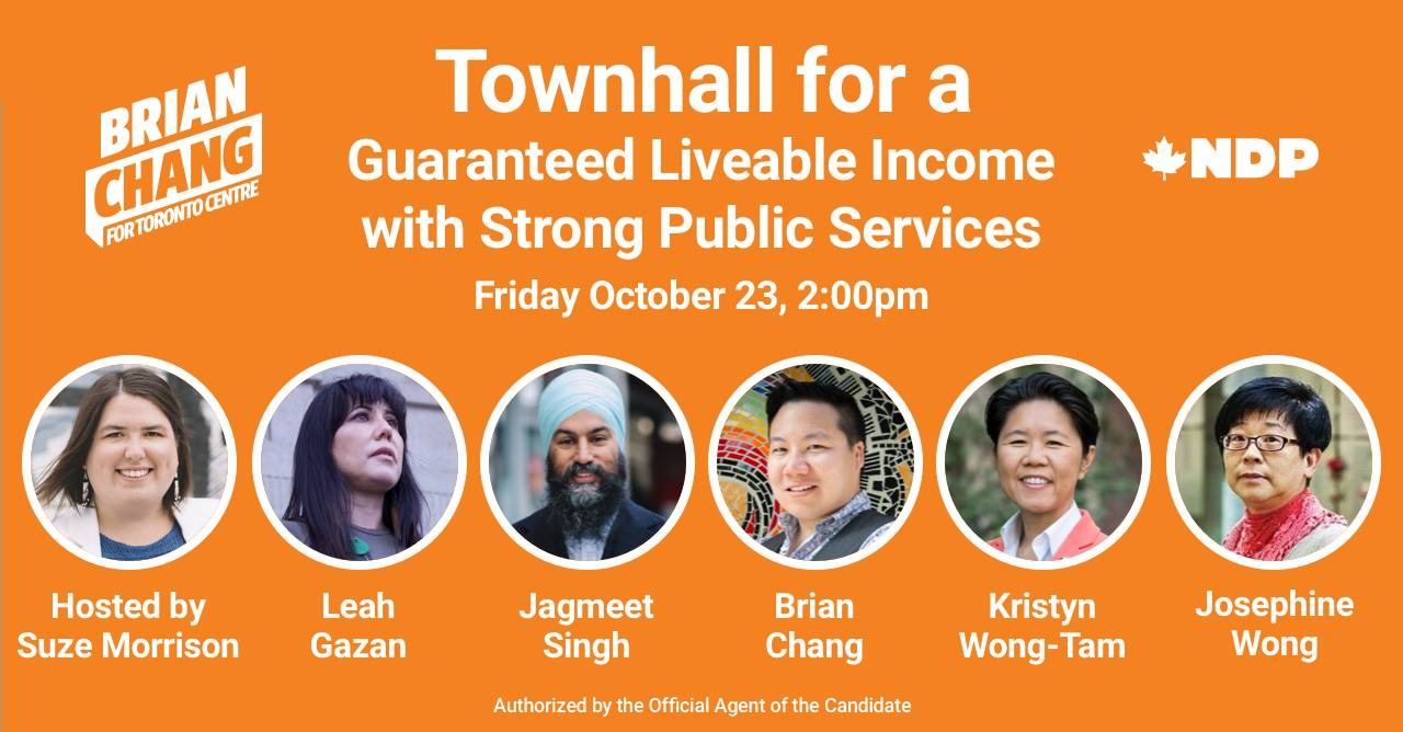 Townhall for a Guaranteed Liveable Income with Strong Public Services