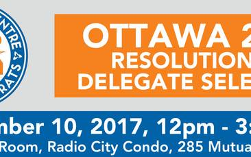 Ottawa 2018 Delegate Selection Meeting